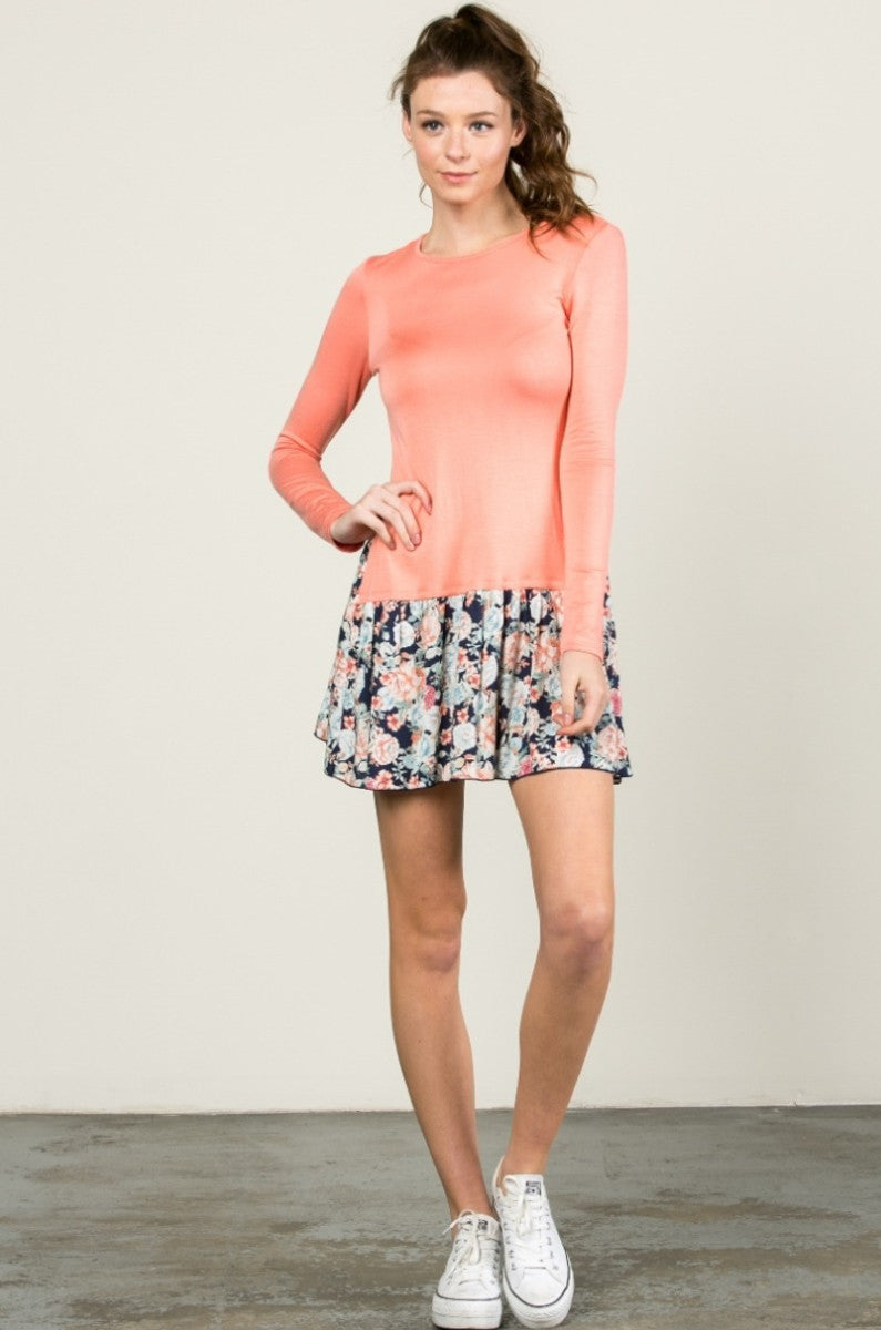 Floral Frill Dress Peach - Tunic - My Yuccie - 7