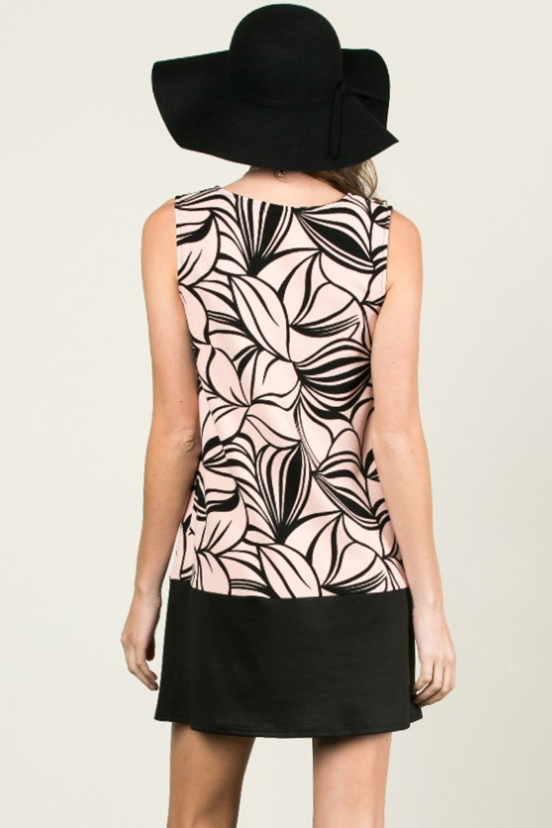 Floral Leaves Dress Blush Black - dres - My Yuccie - 3