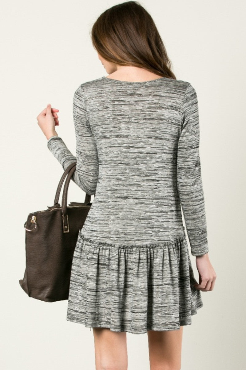 The Broomstick 2Tone Dress Charcoal - Dresses - My Yuccie - 3