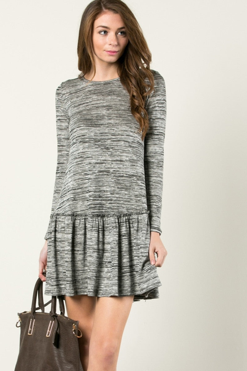 The Broomstick 2Tone Dress Charcoal - Dresses - My Yuccie - 1
