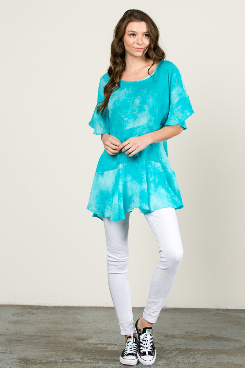 Tie My Dye Dolman Top Blue - Tops - My Yuccie - 4