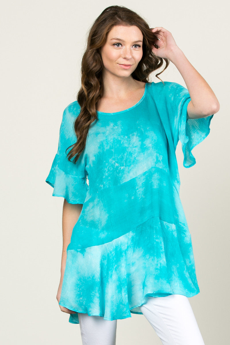 Tie My Dye Dolman Top Blue - Tops - My Yuccie - 2
