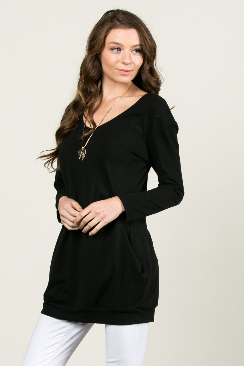 Classic Pockets Top Black - Tunic - My Yuccie - 1