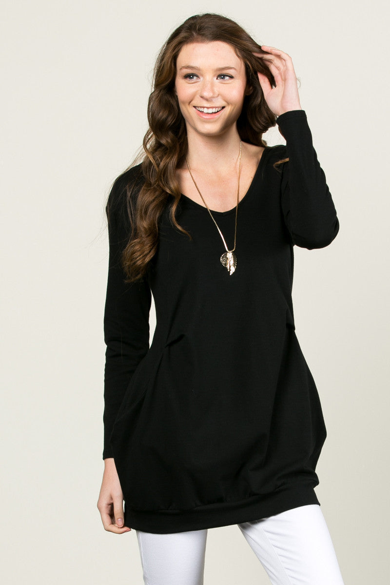 Classic Pockets Top Black - Tunic - My Yuccie - 2
