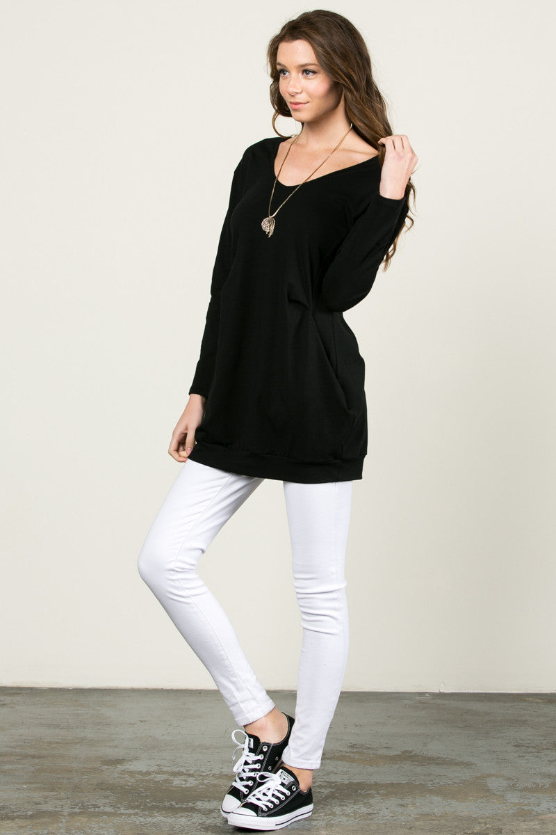 Classic Pockets Top Black - Tunic - My Yuccie - 5