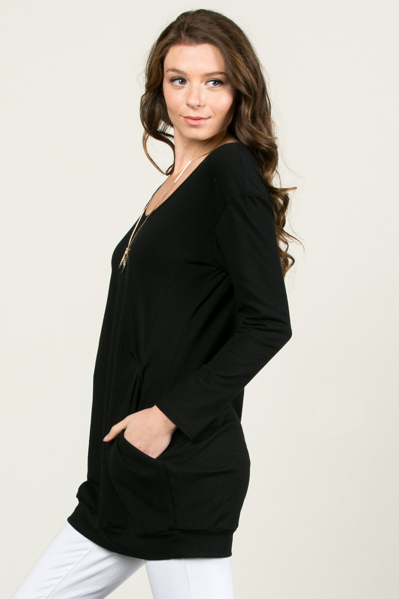 Classic Pockets Top Black - Tunic - My Yuccie - 3
