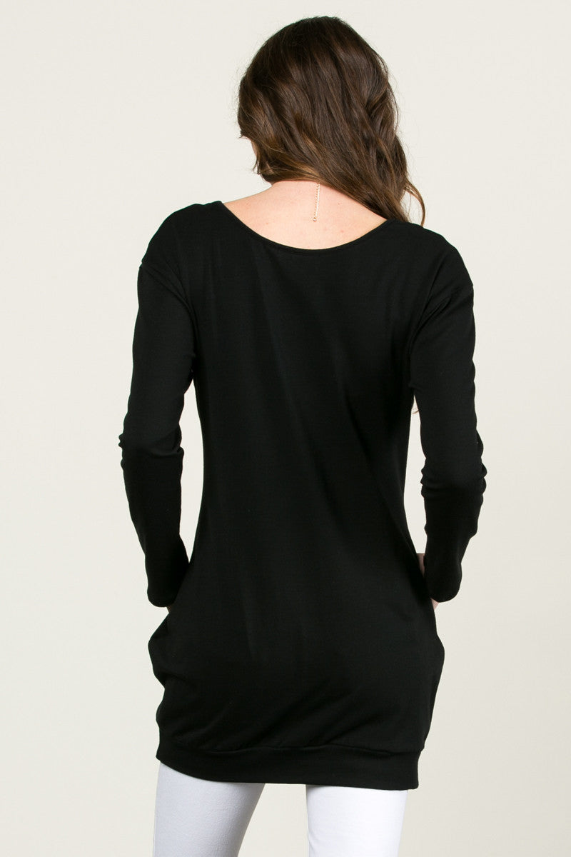 Classic Pockets Top Black - Tunic - My Yuccie - 4