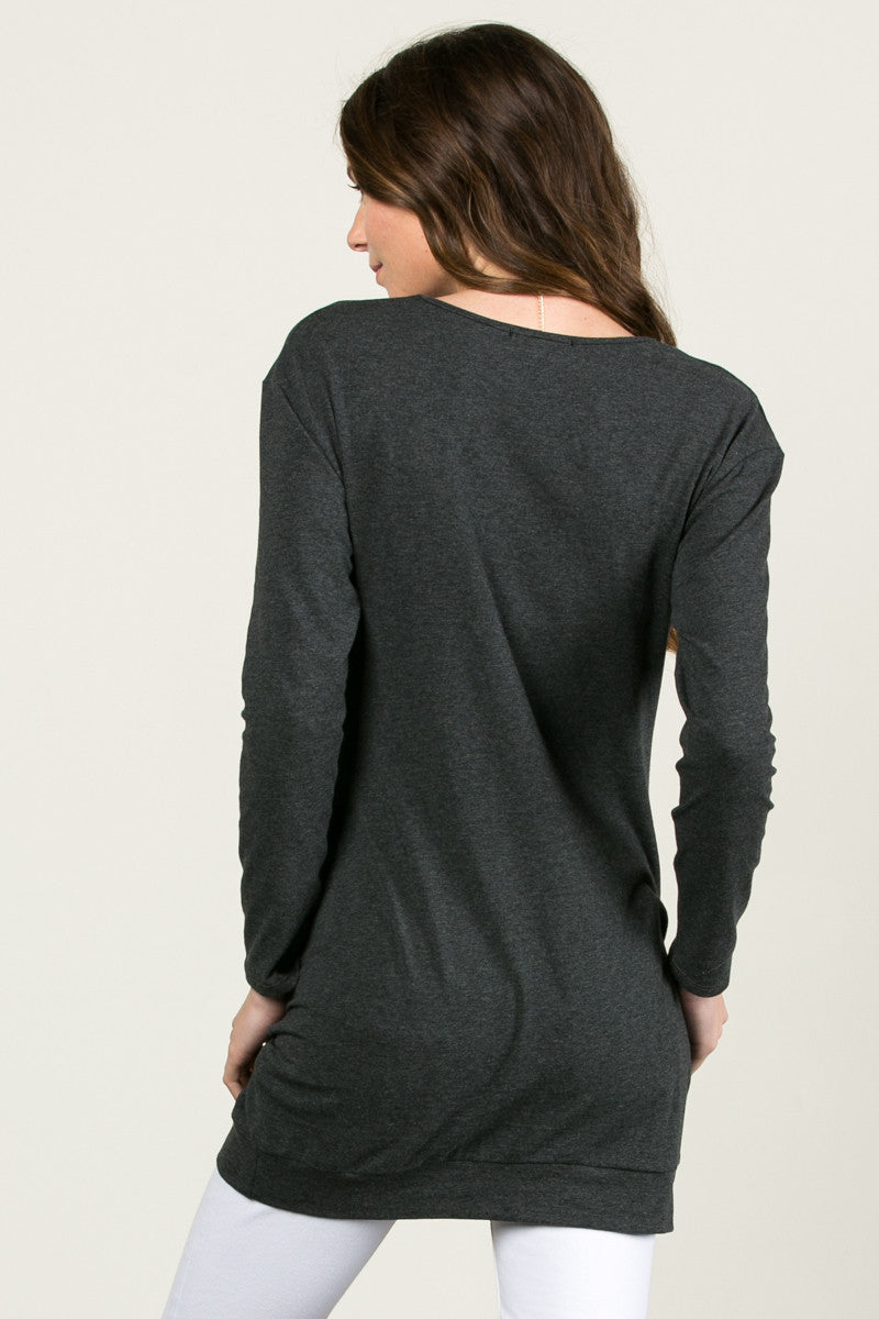 Classic Pockets Top Charcoal - Tunic - My Yuccie - 3