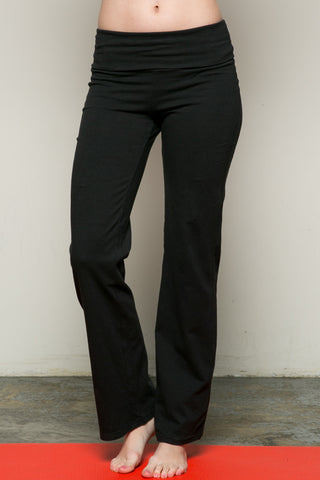 Casual Straight Leg Yoga Pants Black - Pants - My Yuccie - 1