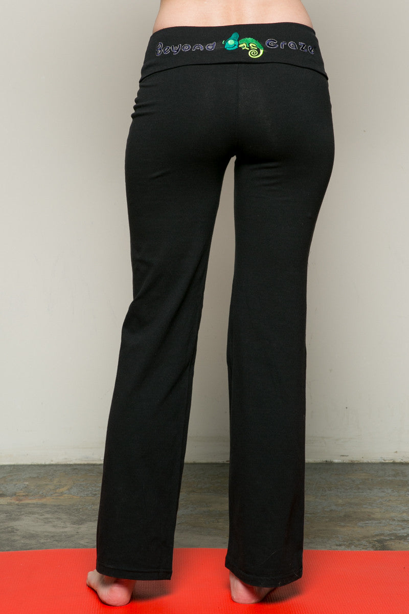 Casual Straight Leg Yoga Pants Black - Pants - My Yuccie - 3