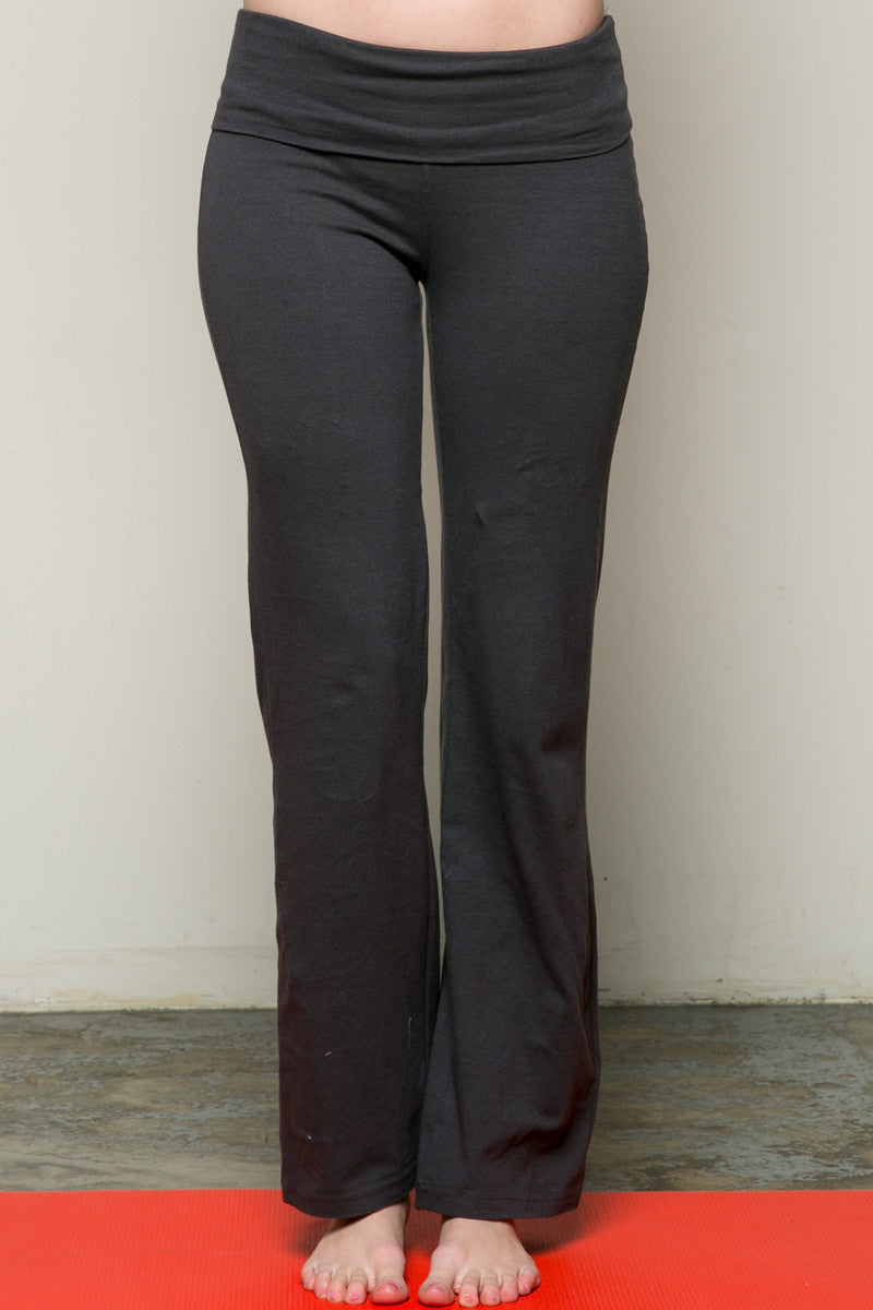 Casual Straight Leg Yoga Pants Charcoal - Pants - My Yuccie - 1