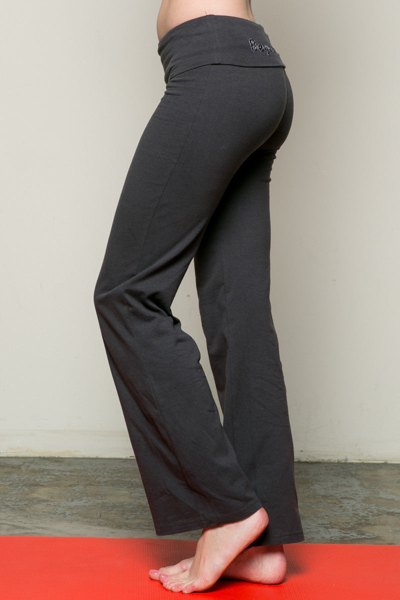 Casual Straight Leg Yoga Pants Charcoal - Pants - My Yuccie - 2