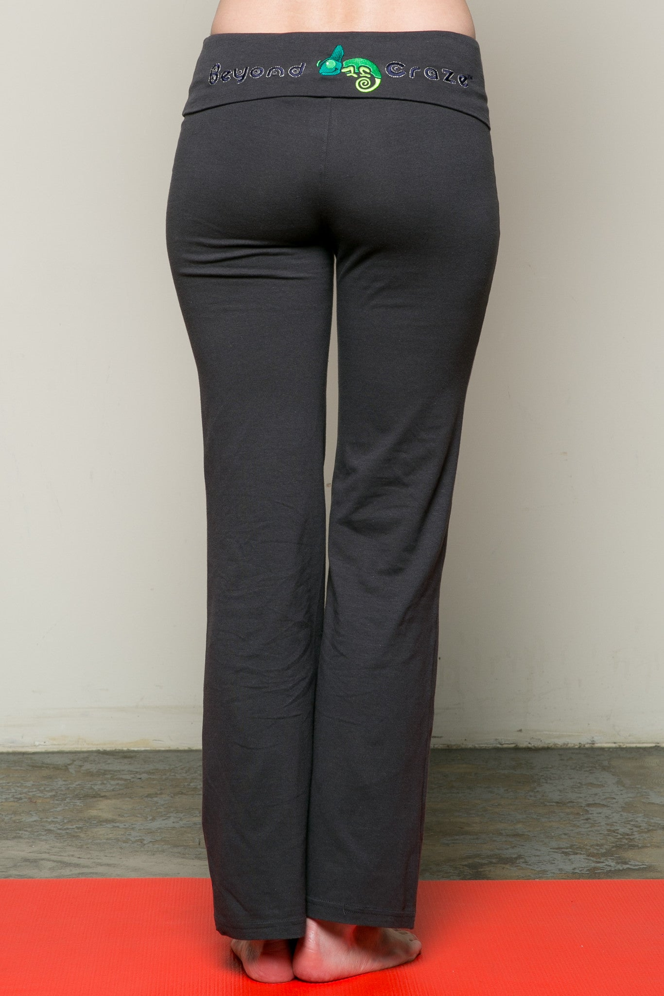 Casual Straight Leg Yoga Pants Charcoal - Pants - My Yuccie - 3