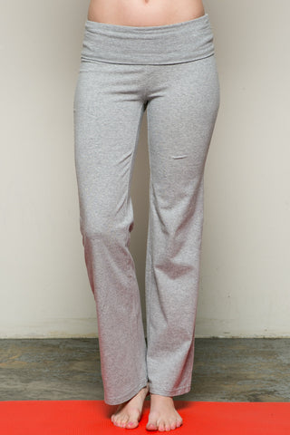 Casual Straight Leg Yoga Pants Grey - Pants - My Yuccie - 1
