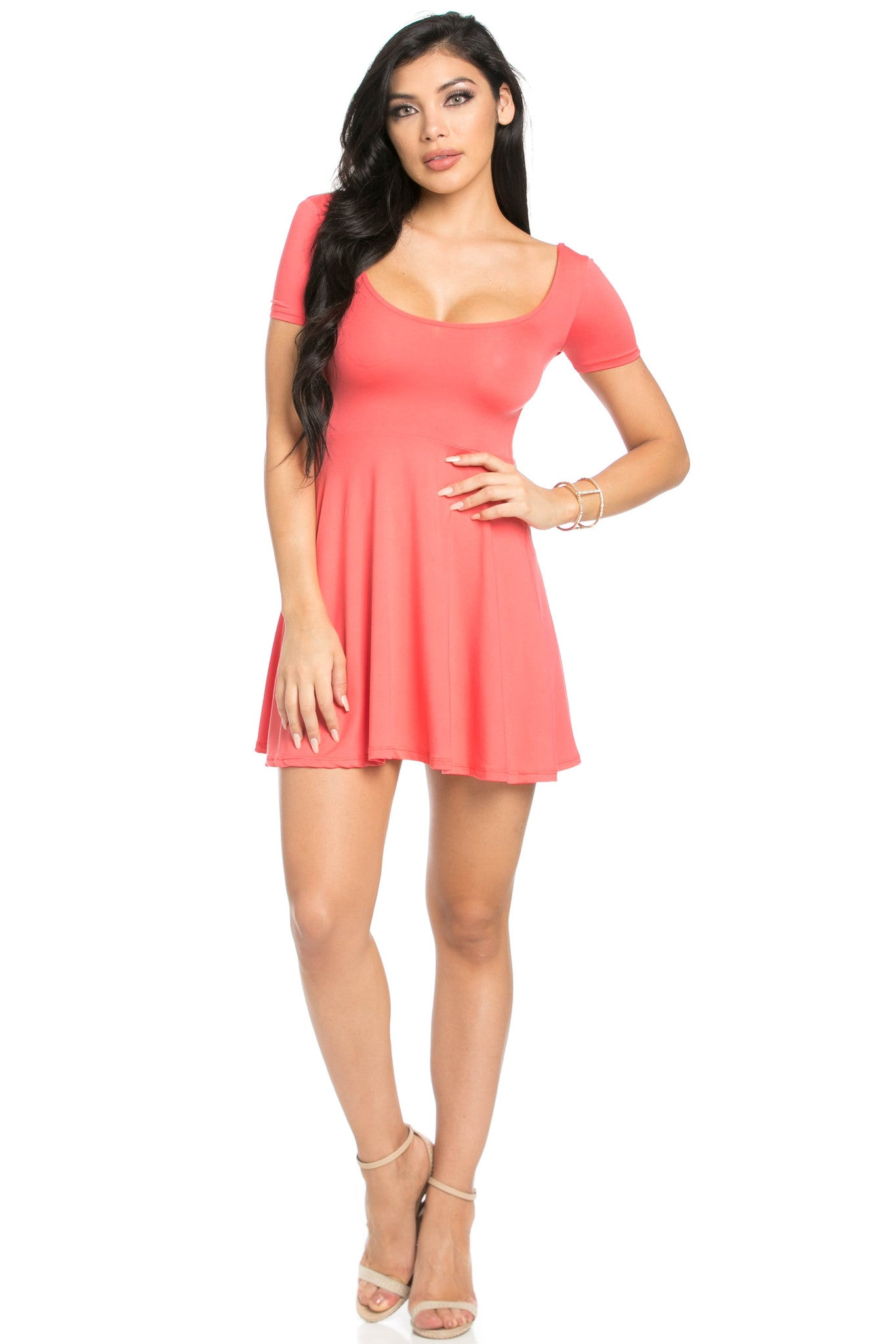 Micro Suede Coral Mini Dress - Dresses - My Yuccie - 5