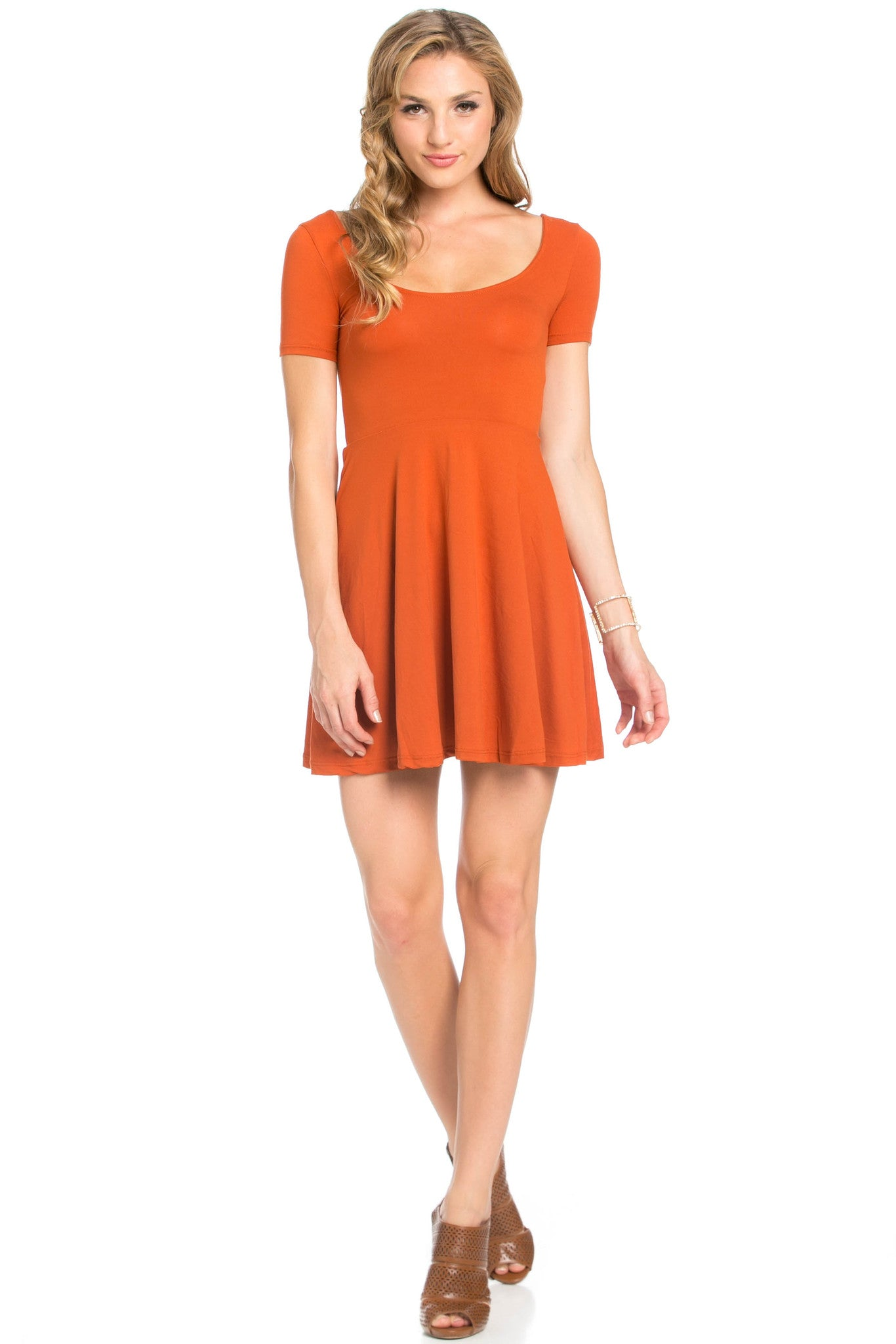 Micro Suede Rust Mini Dress - Dresses - My Yuccie - 5