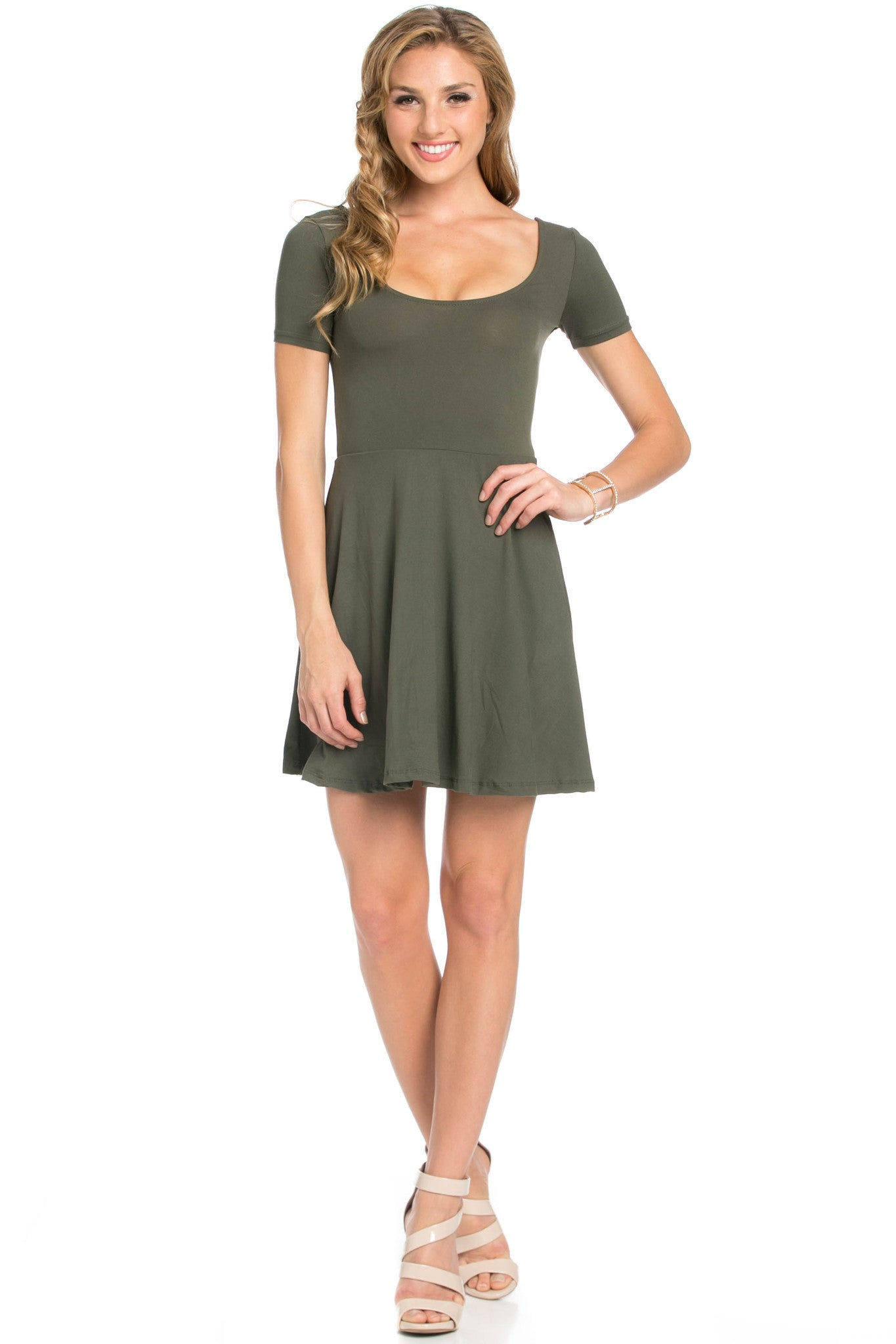 Micro Suede Olive Mini Dress - Dresses - My Yuccie - 5