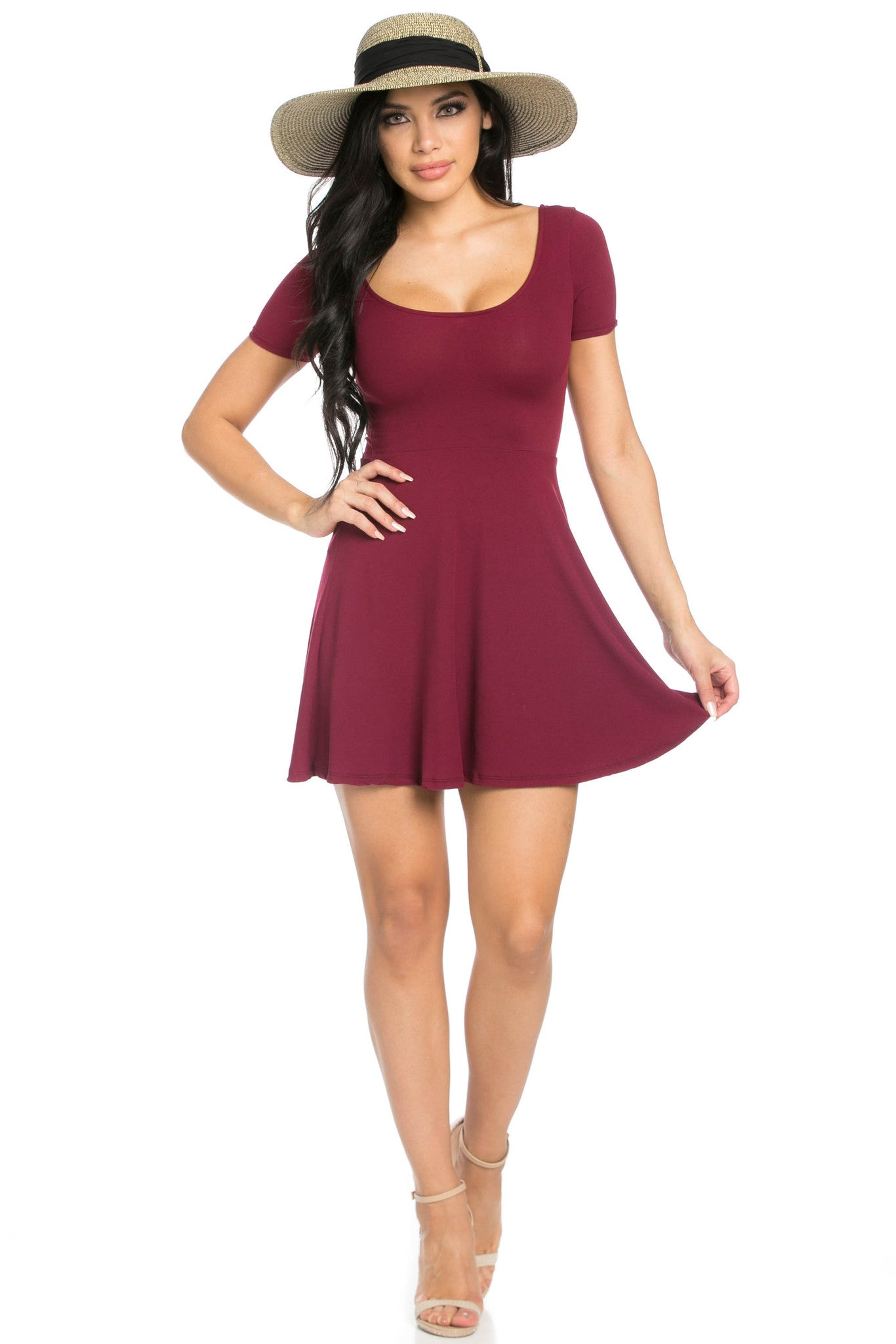 Micro Suede Burgundy Mini Dress - Dresses - My Yuccie - 5