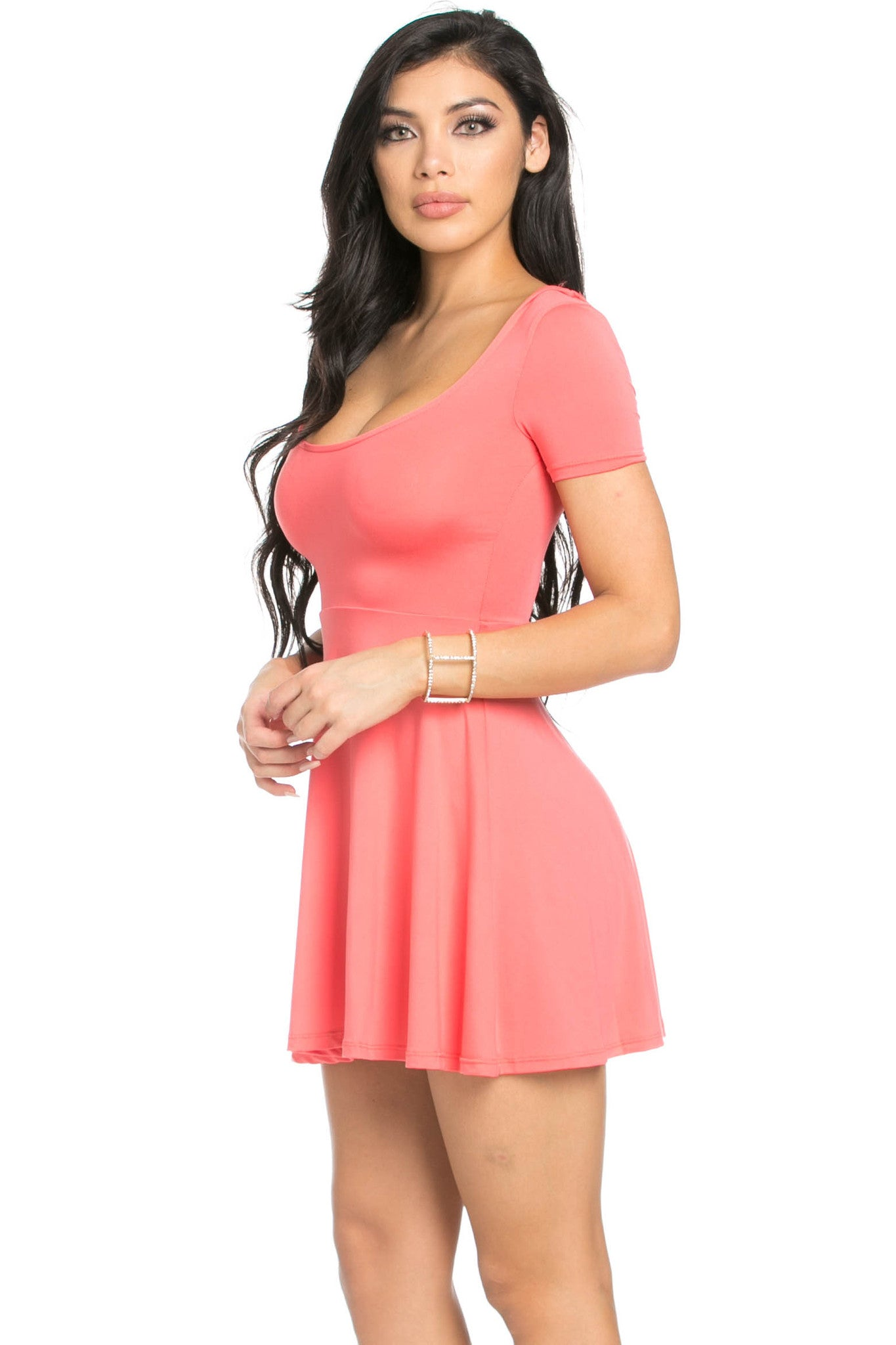 Micro Suede Coral Mini Dress - Dresses - My Yuccie - 2