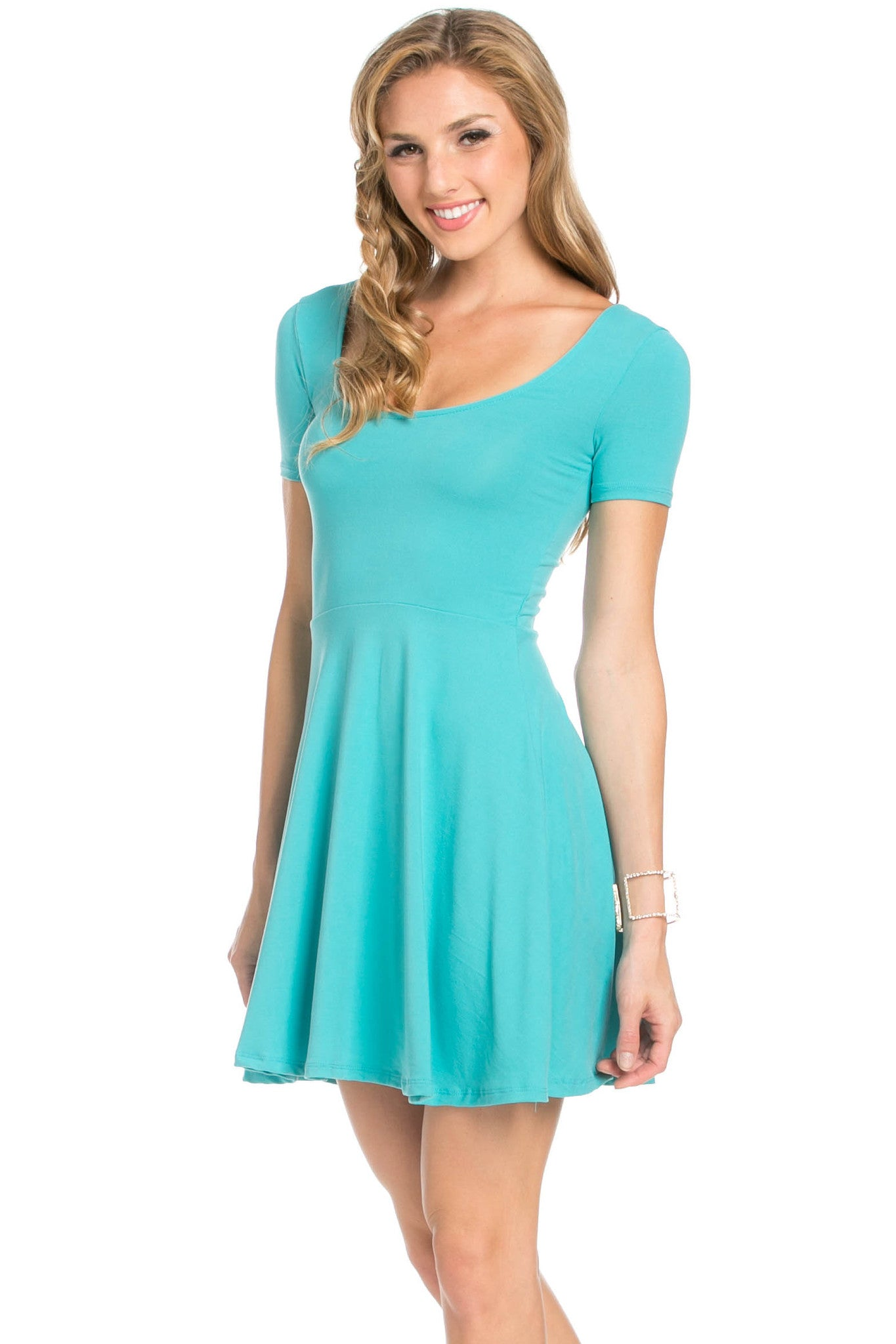 Micro Suede Jade Mini Dress - Dresses - My Yuccie - 1