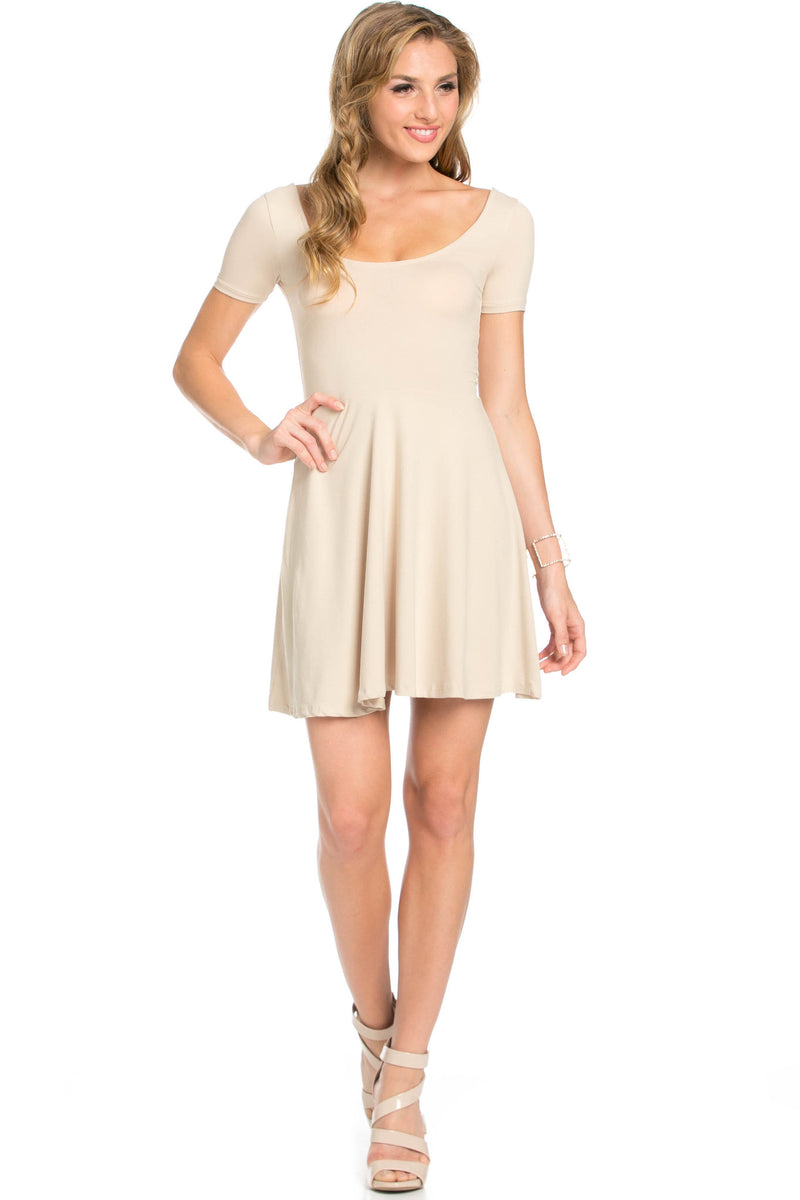 Micro Suede Khaki Mini Dress - Dresses - My Yuccie - 5