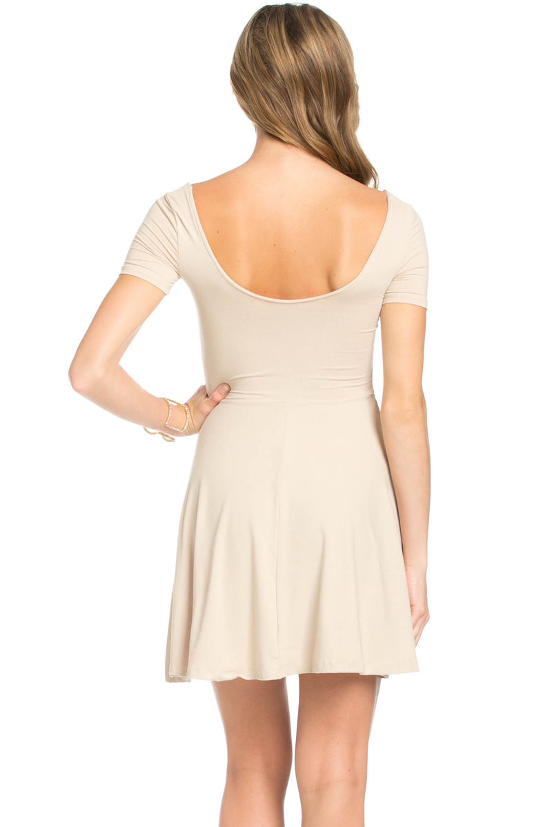 Micro Suede Khaki Mini Dress - Dresses - My Yuccie - 3
