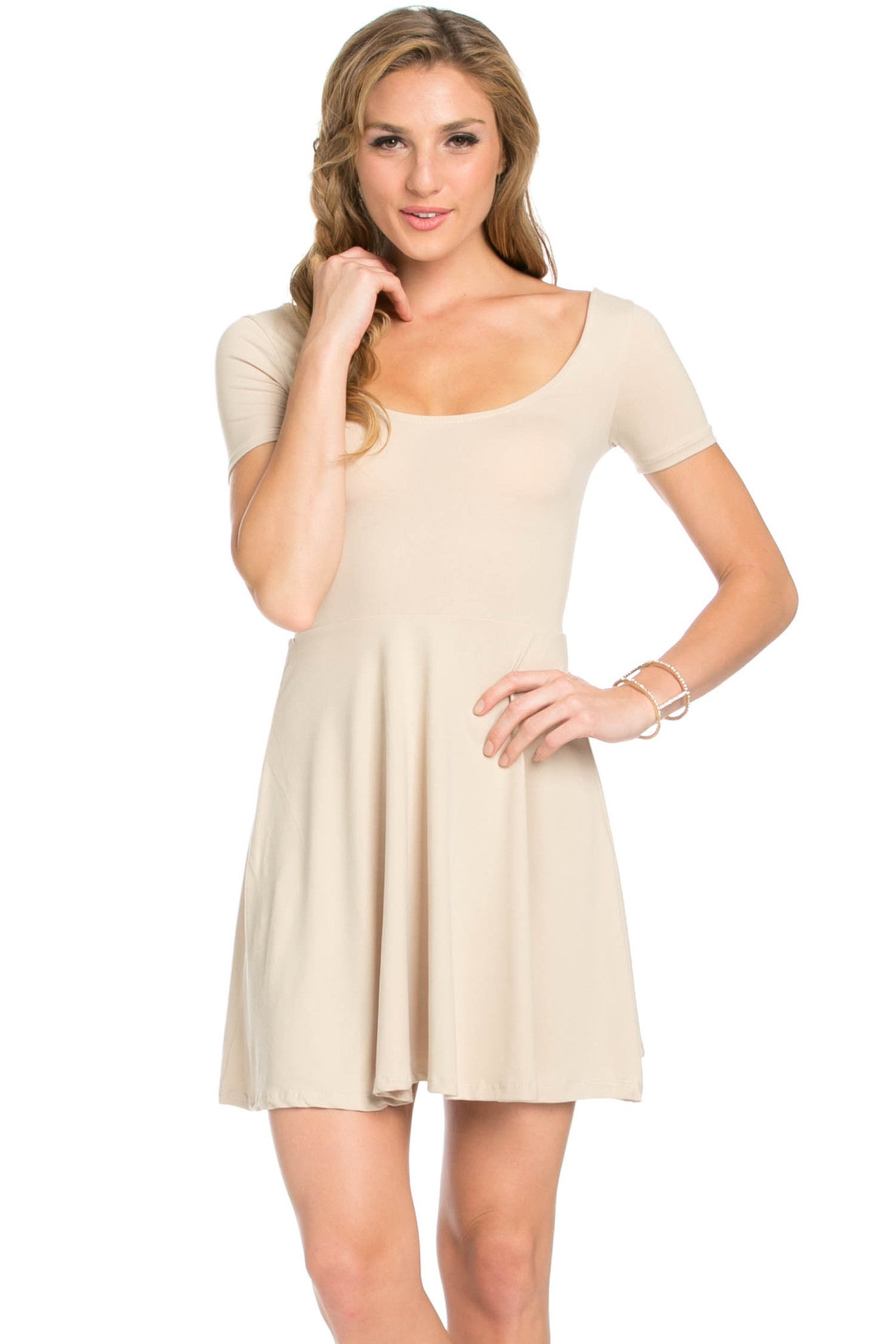 Micro Suede Khaki Mini Dress - Dresses - My Yuccie - 4
