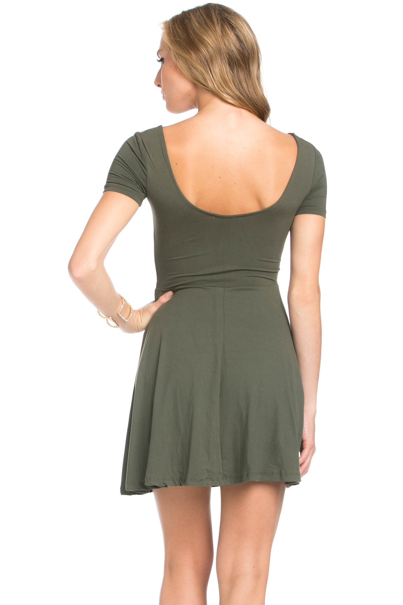 Micro Suede Olive Mini Dress - Dresses - My Yuccie - 3