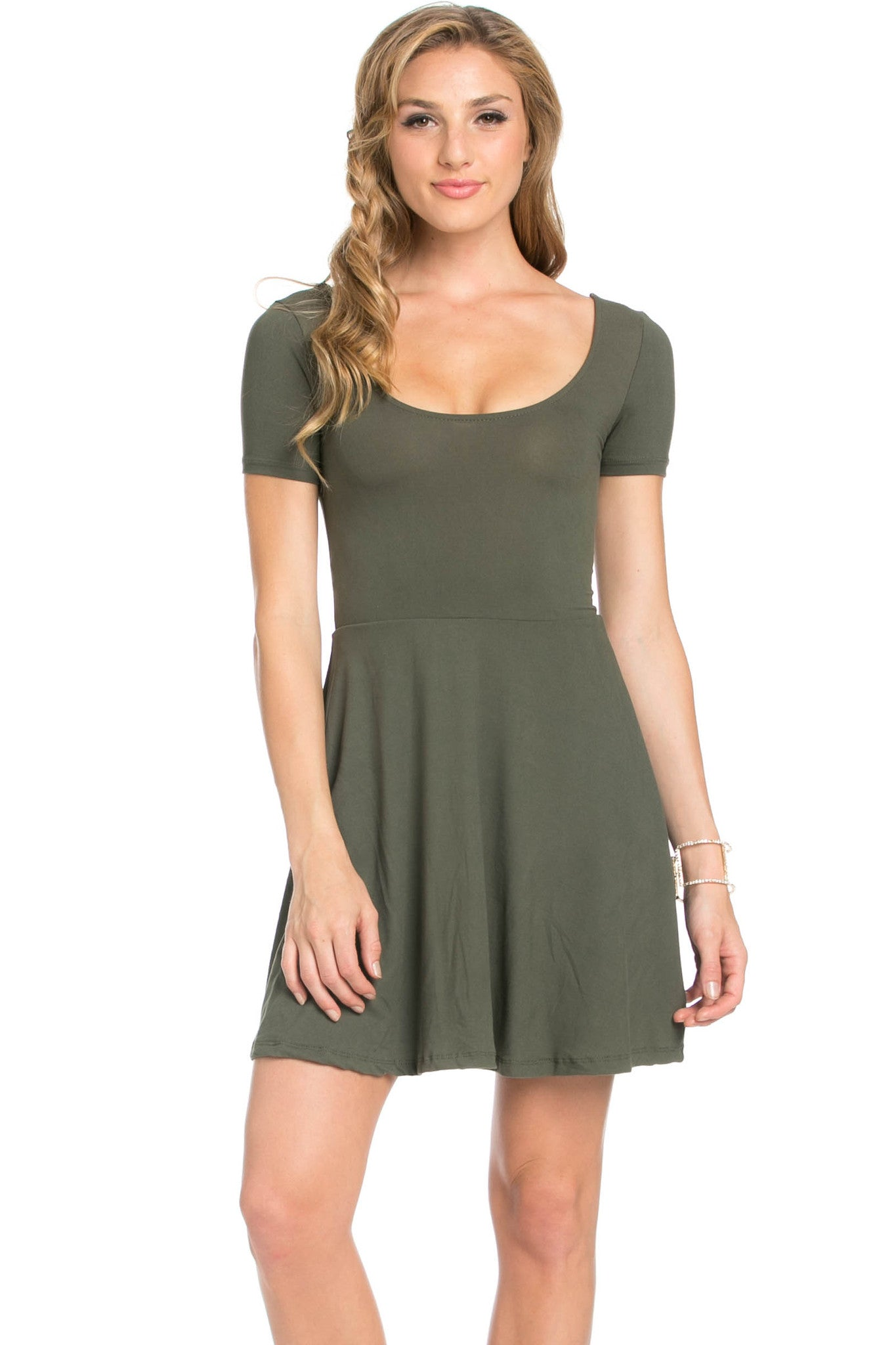 Micro Suede Olive Mini Dress - Dresses - My Yuccie - 2