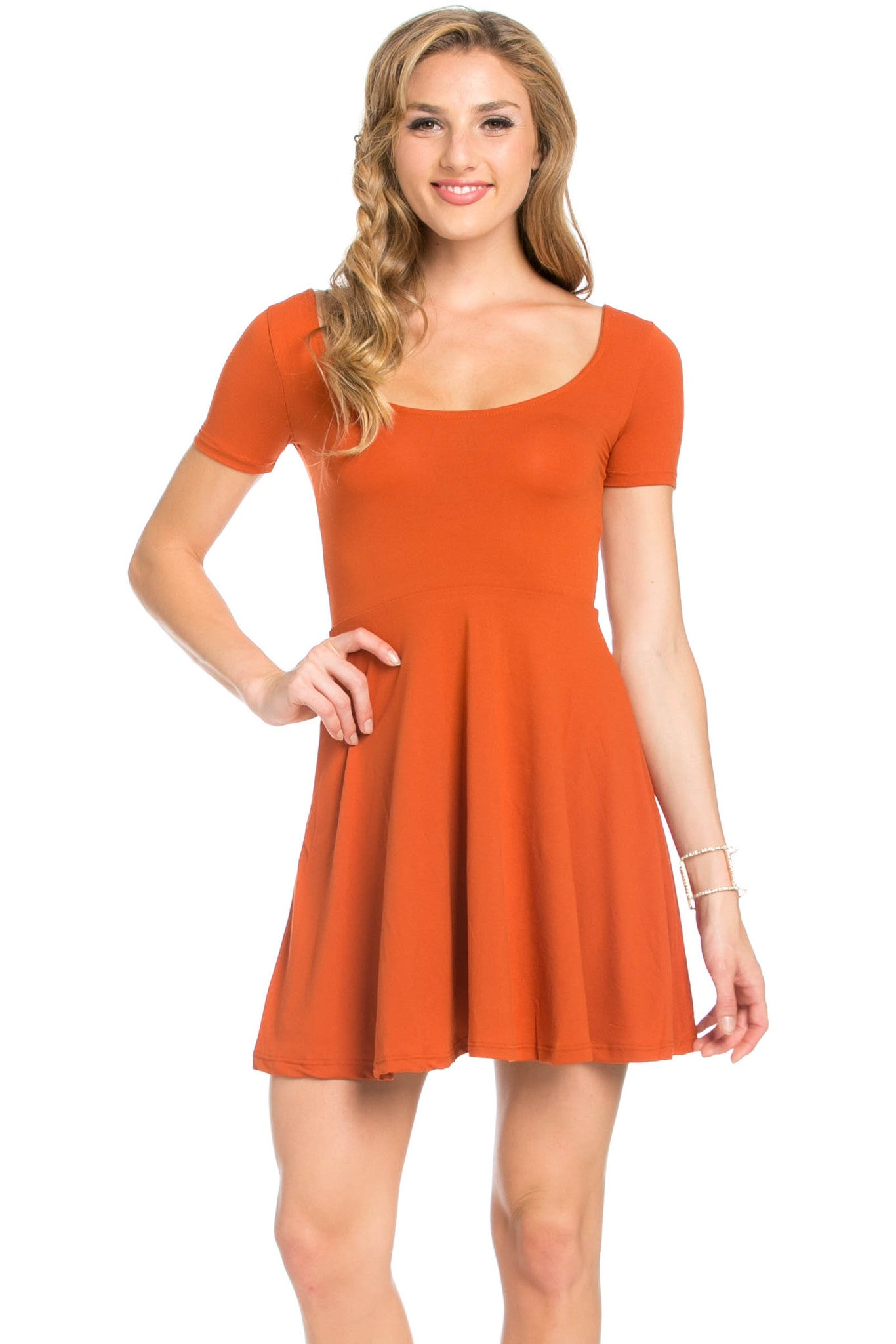 Micro Suede Rust Mini Dress - Dresses - My Yuccie - 2