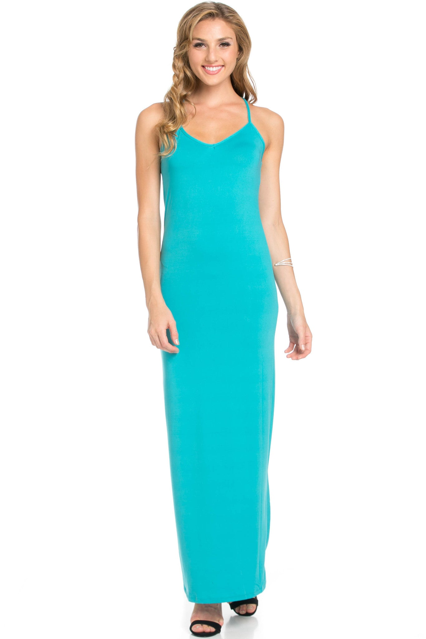 Micro Suede Jade Maxi Dress - Dresses - My Yuccie - 2