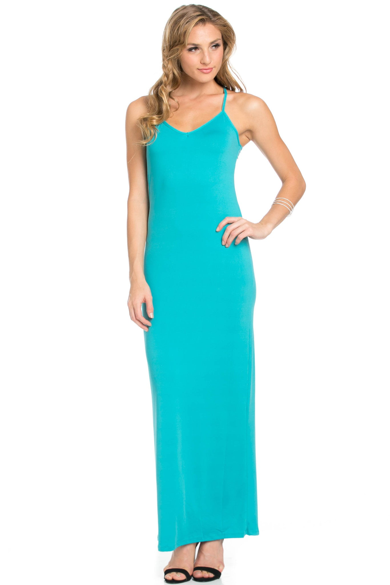Micro Suede Jade Maxi Dress - Dresses - My Yuccie - 5