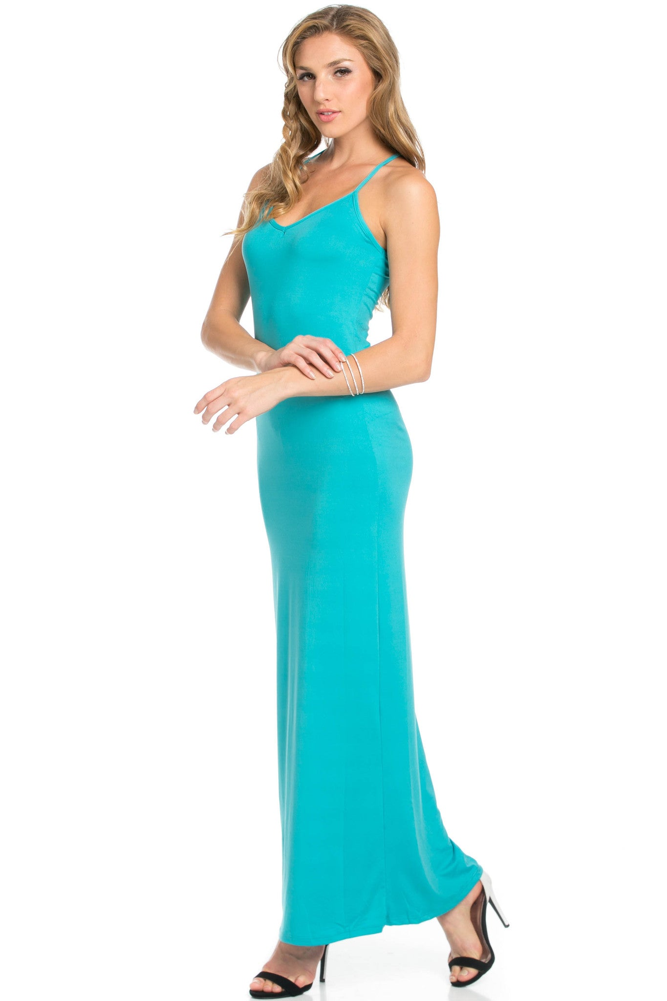 Micro Suede Jade Maxi Dress - Dresses - My Yuccie - 3