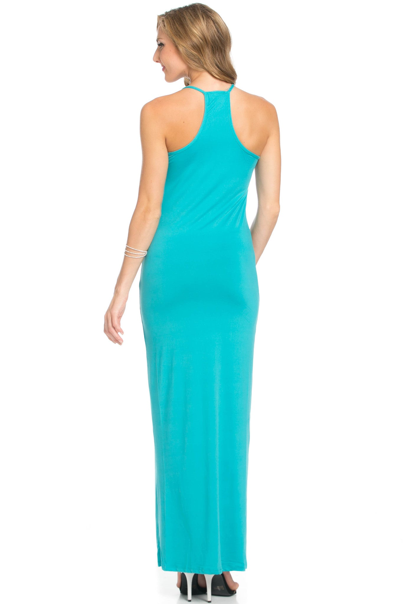 Micro Suede Jade Maxi Dress - Dresses - My Yuccie - 4