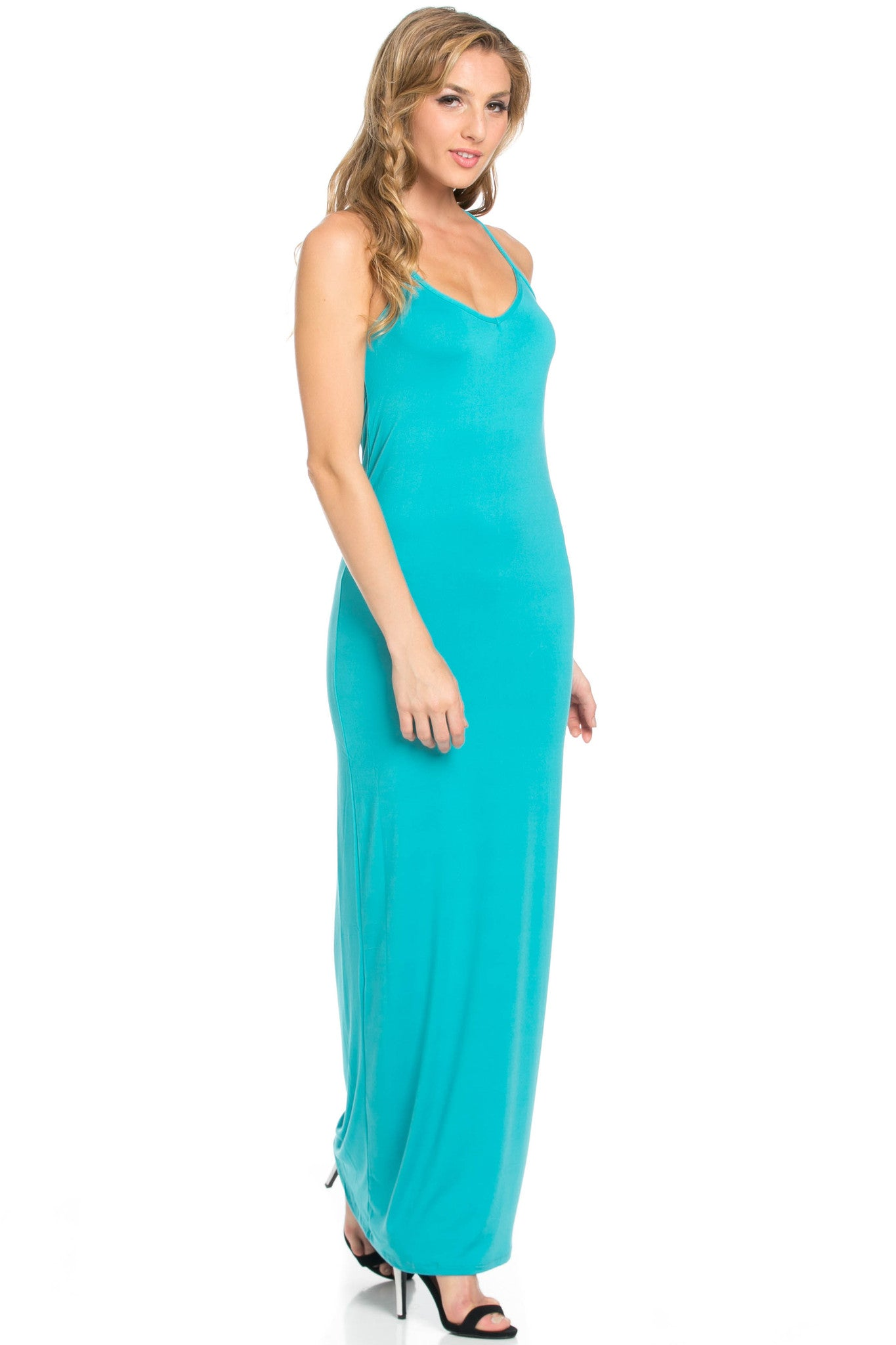 Micro Suede Jade Maxi Dress - Dresses - My Yuccie - 1