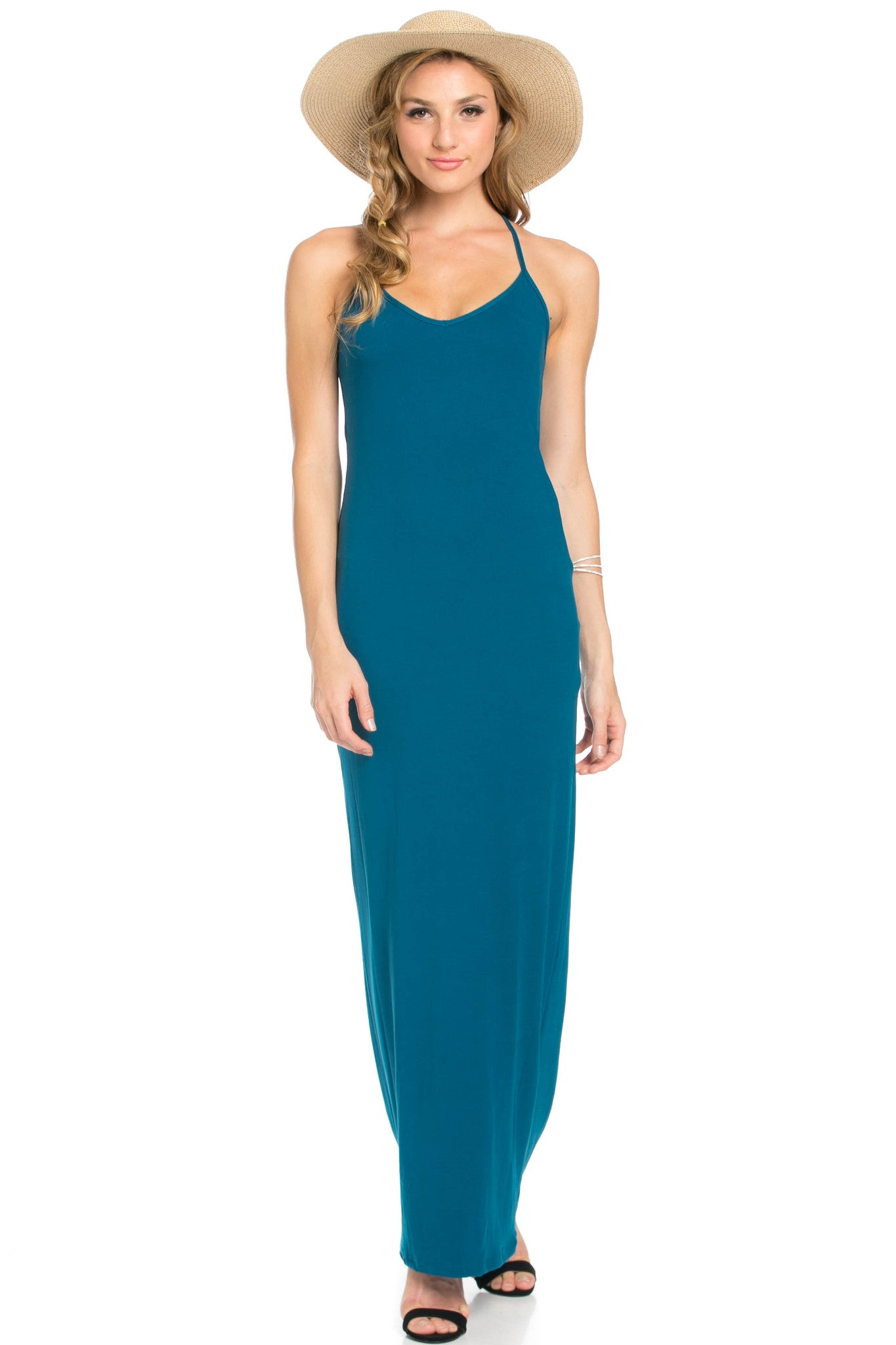 Micro Suede Teal Maxi Dress - Dresses - My Yuccie - 6