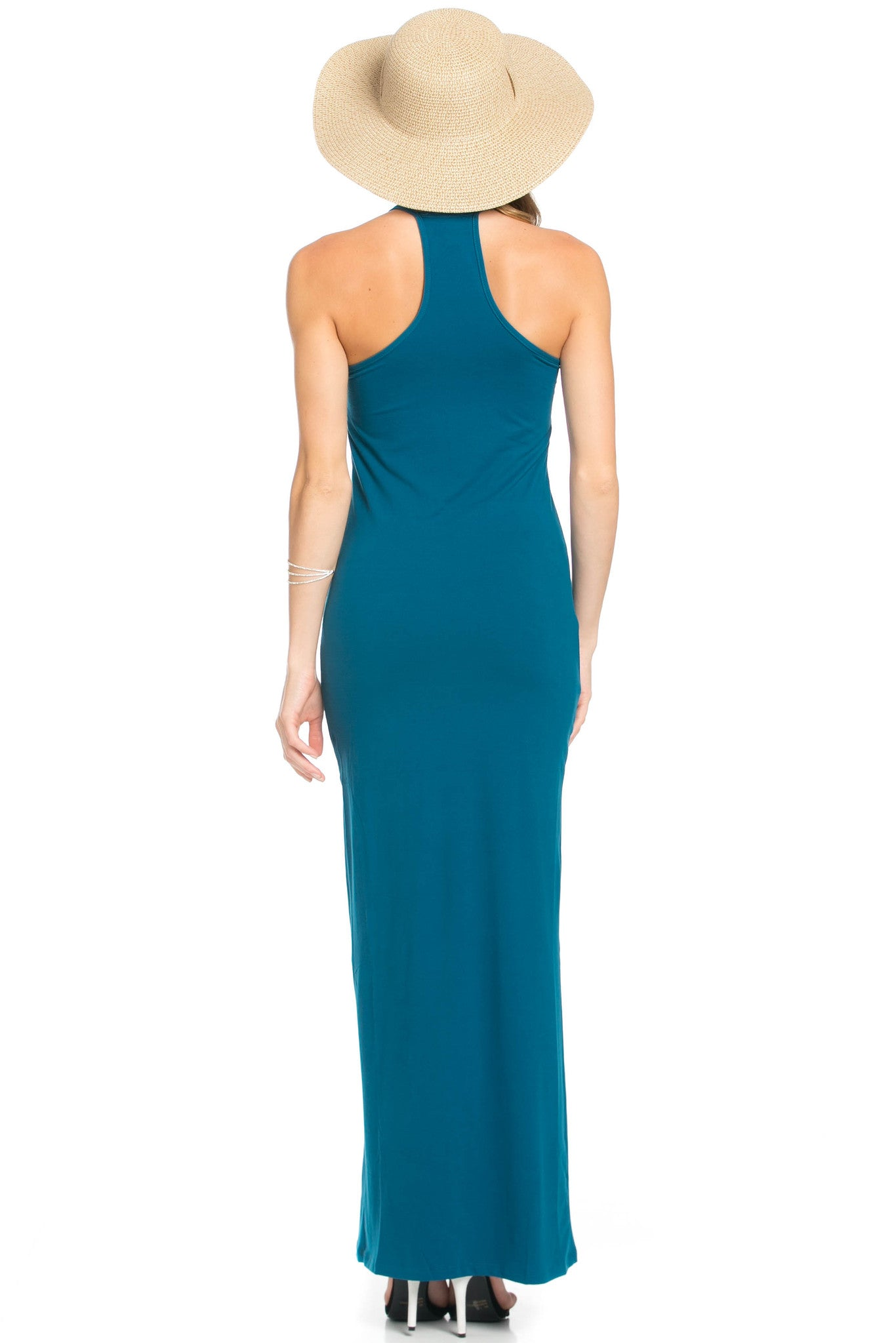 Micro Suede Teal Maxi Dress - Dresses - My Yuccie - 9