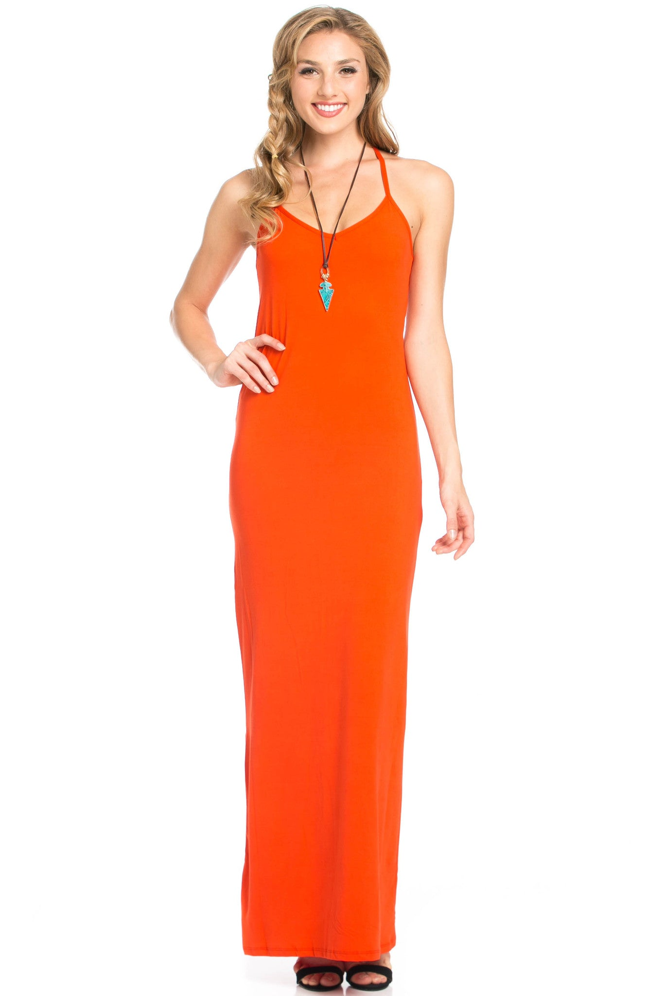 Micro Suede Tomato Maxi Dress - Dresses - My Yuccie - 5