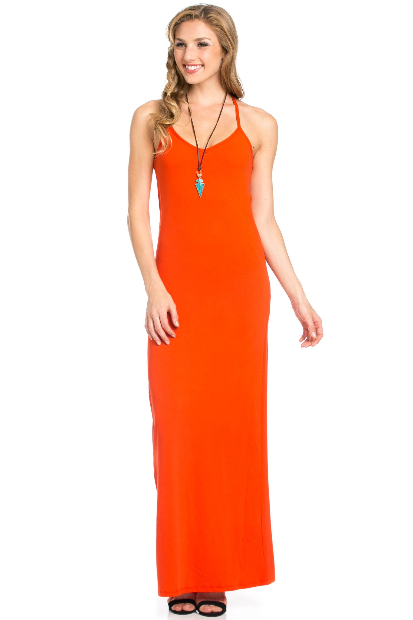 Micro Suede Tomato Maxi Dress - Dresses - My Yuccie - 4