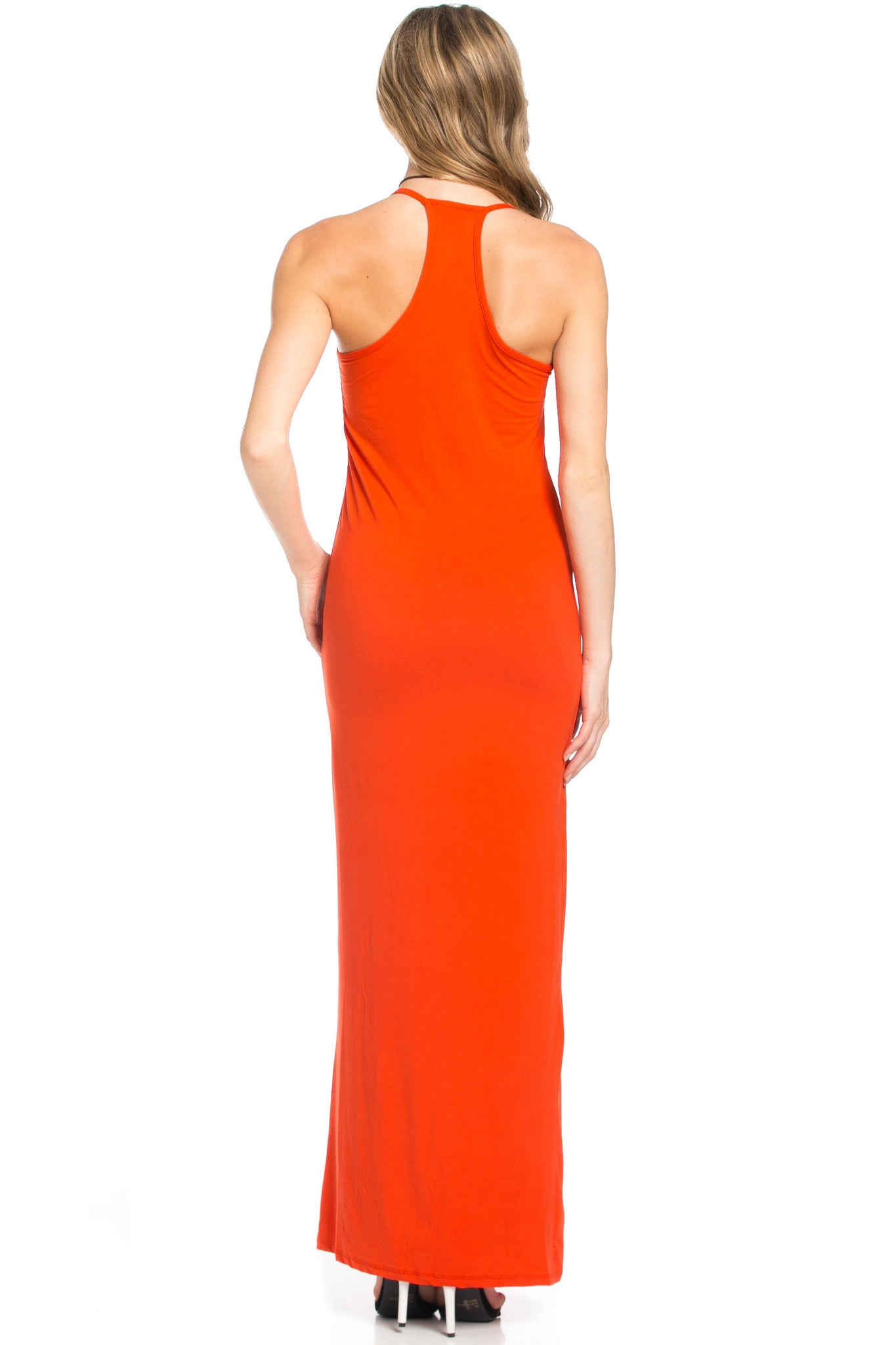 Micro Suede Tomato Maxi Dress - Dresses - My Yuccie - 3