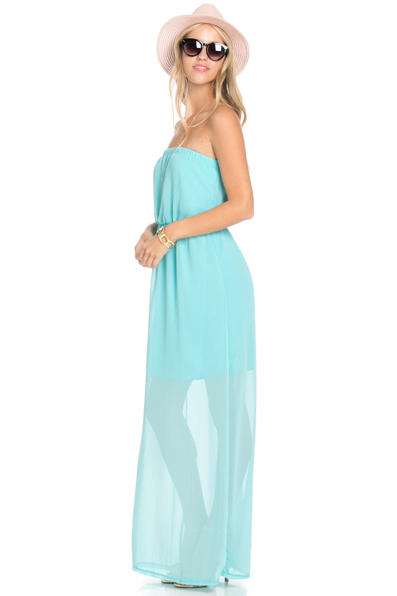 Mint Tube Maxi Dress - Dresses - My Yuccie - 2