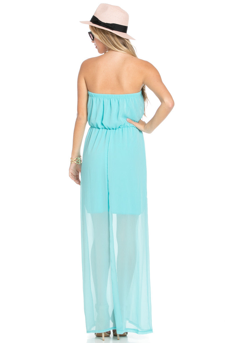 Mint Tube Maxi Dress - Dresses - My Yuccie - 3