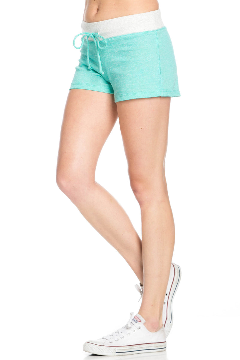 Contrast French Terry Knit Mint Shorts - Shorts - My Yuccie - 2