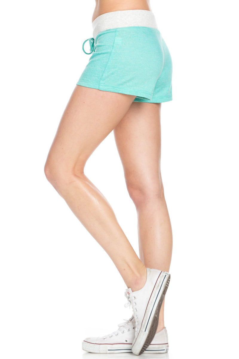 Contrast French Terry Knit Mint Shorts - Shorts - My Yuccie - 3