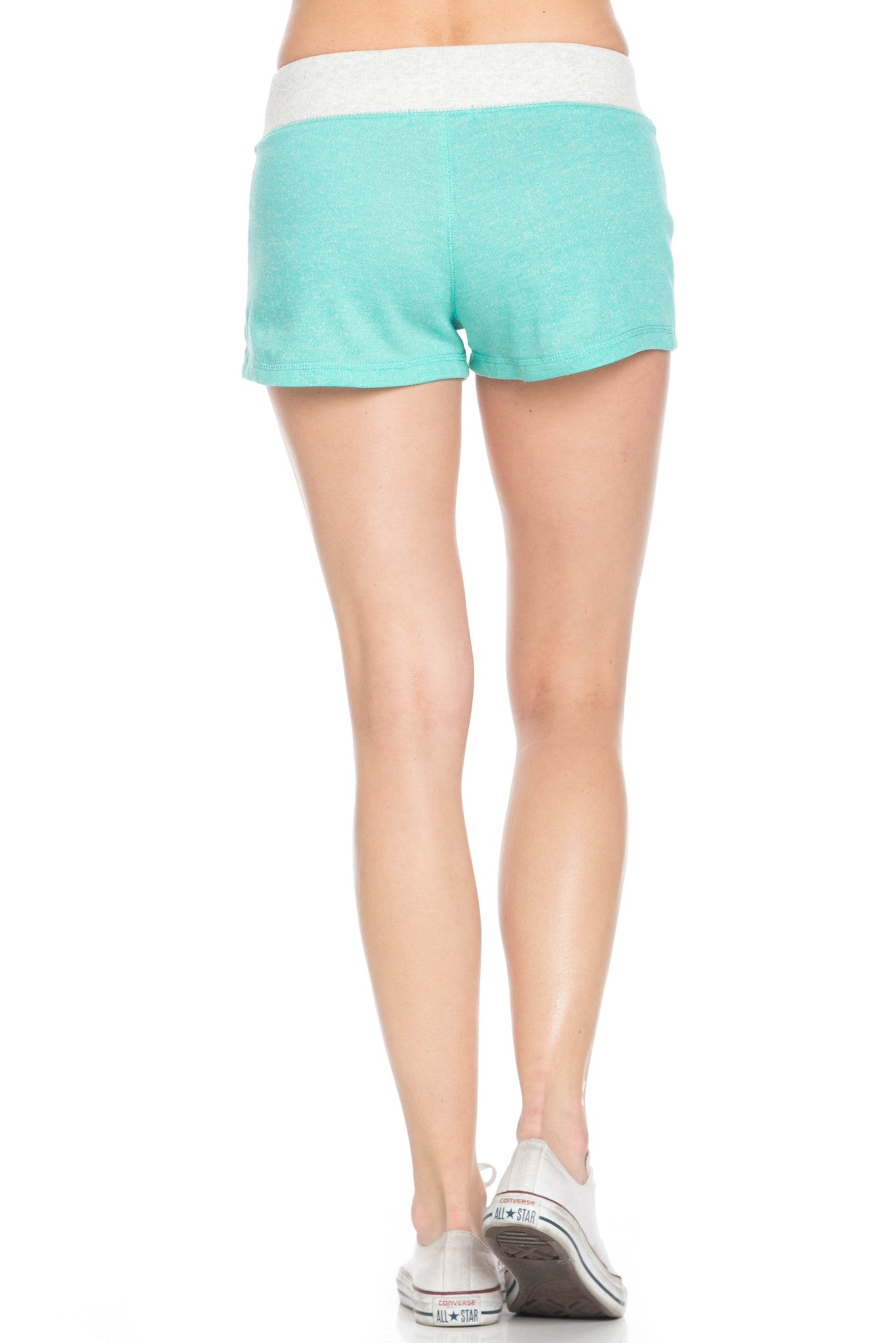 Contrast French Terry Knit Mint Shorts - Shorts - My Yuccie - 4