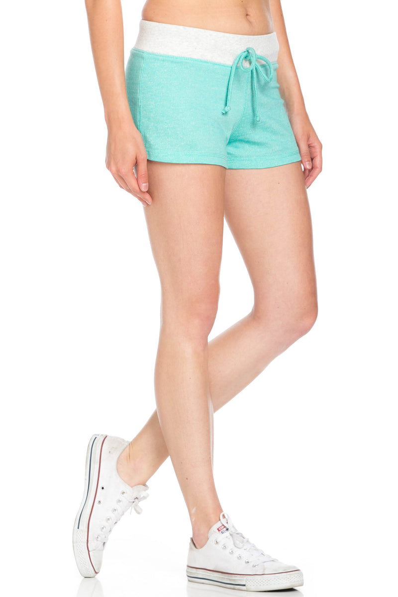 Contrast French Terry Knit Mint Shorts - Shorts - My Yuccie - 5