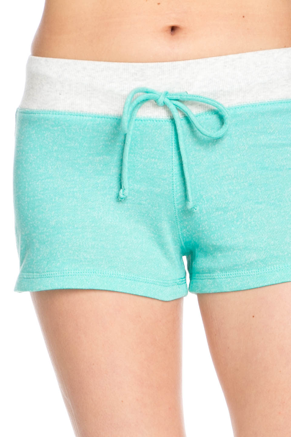 Contrast French Terry Knit Mint Shorts - Shorts - My Yuccie - 6