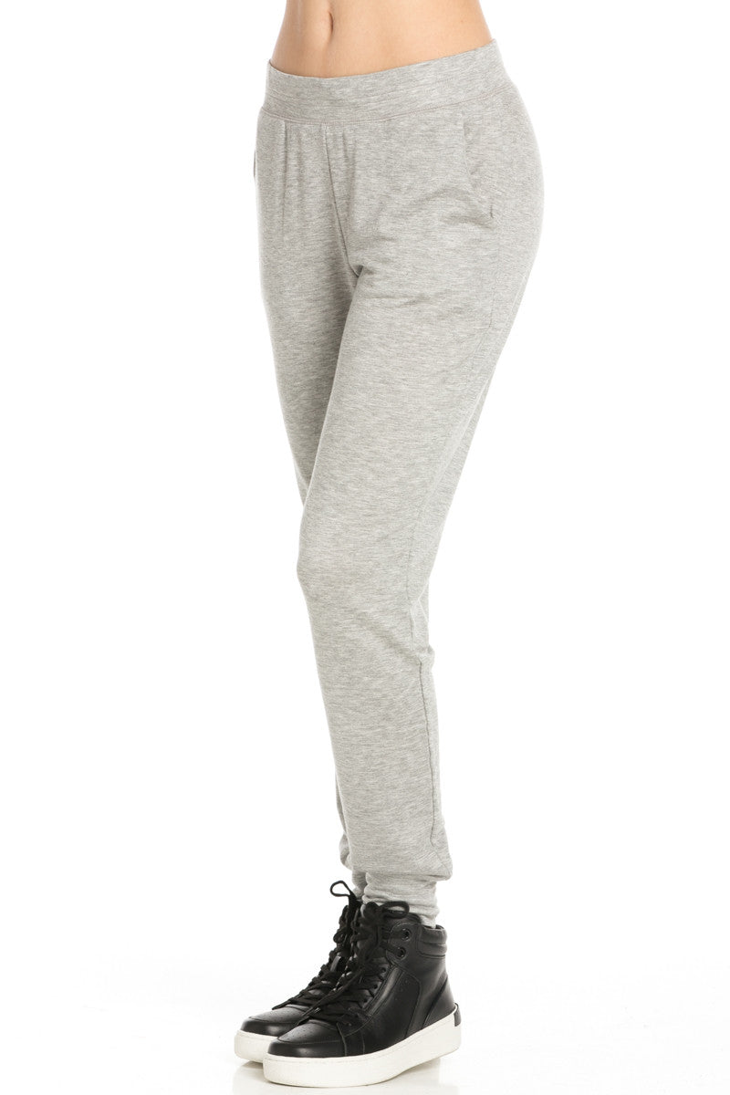 Lightweight Heather Grey Jogger Pants - Jogger Pants - My Yuccie - 2