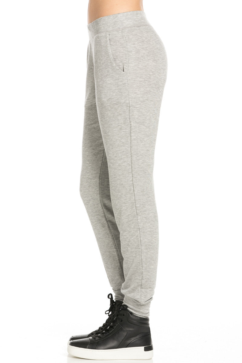 Lightweight Heather Grey Jogger Pants - Jogger Pants - My Yuccie - 3