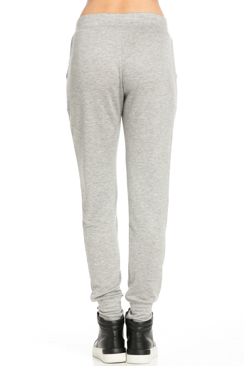 Lightweight Heather Grey Jogger Pants - Jogger Pants - My Yuccie - 4